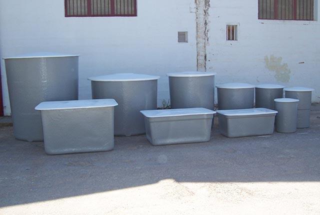 depósitos de agua de poliester