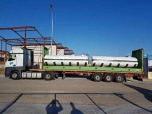 Conjunto de cubas de 12.000 litros para empresa de gestión de residuos en Santa Cruz de Tenerife