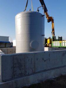 Depósito para almacenamiento de productos químicos en EDAR provincia de Sevilla